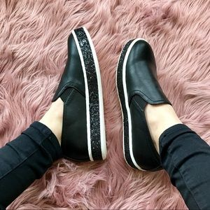 Shoes - Glitter Slip-on Sneakers